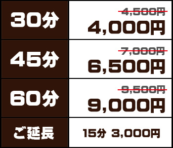 30分4000円〜