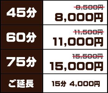 45分8000円〜