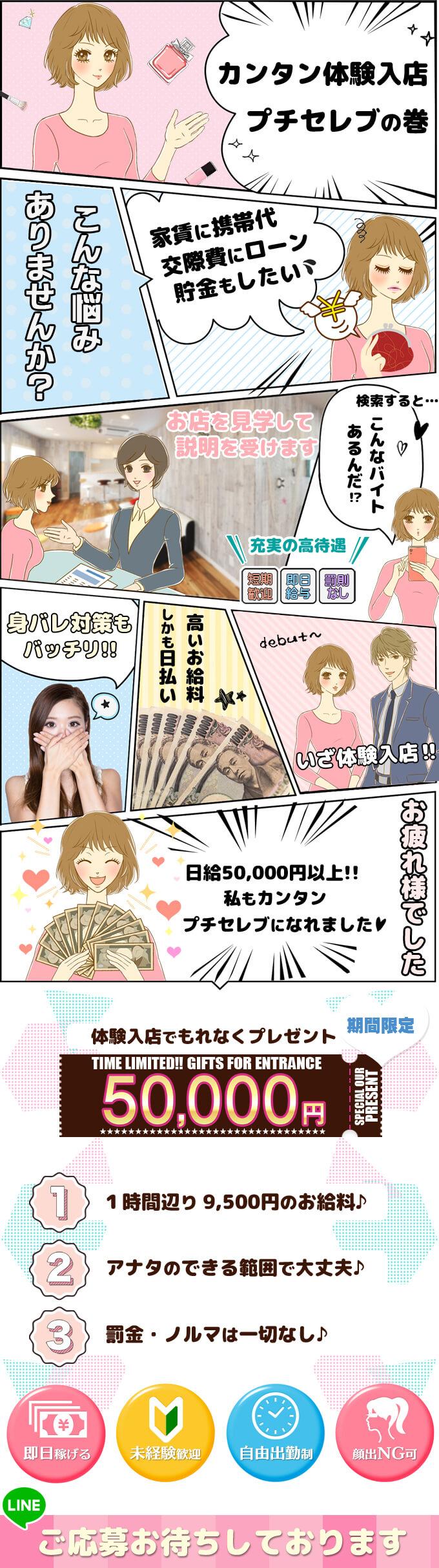 体験入店でもれなく5万円プレゼント!